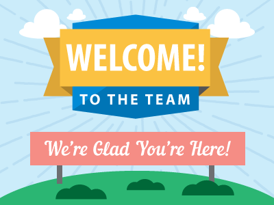 welcome to the team graphic