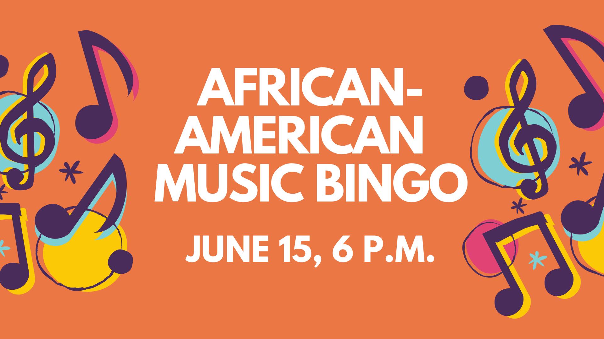 African American Music Bingo