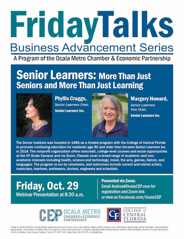 Friday Talks flyer