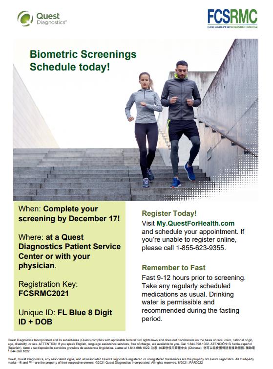 biometric testing flyer